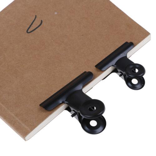 5Pcs Bulldog Letter Clips Stainless Steel Paper File Binder Clip Office Suppl MR