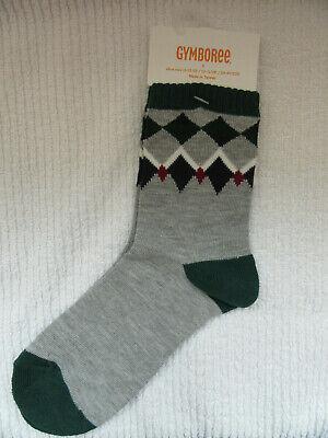 GYMBOREE Gymgo 3 Pack Black White Grey Low Ankle Socks Boys S Fits Shoe 11-12