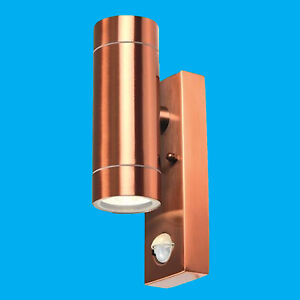 PIR-Copper-Up-amp-Down-Outdoor-IP44-Motion-Sensor-Security-Wall-Light