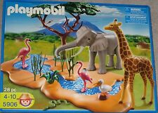 NEW PLAYMOBIL African Safari Water Hole #5906 Free Priority Ship! Elephant Birds