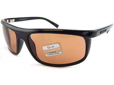 SERENGETI - VELINO photochromic Sunglasses Shiny Black / Drivers Glass Lens 7469