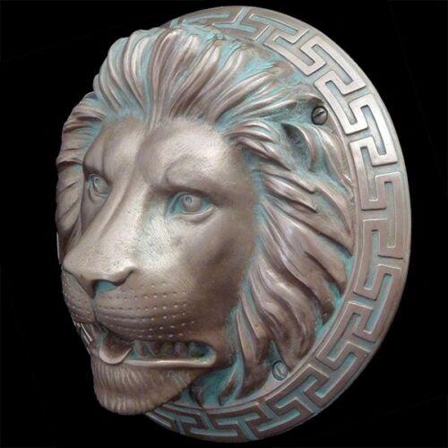 Lion Fountainhead Bronze Resin Sculpture