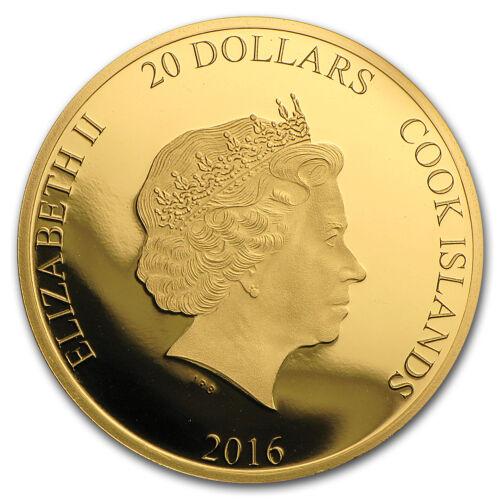 SKU #102379 2016 Cook Islands 1//10 oz Gold Brexit Proof