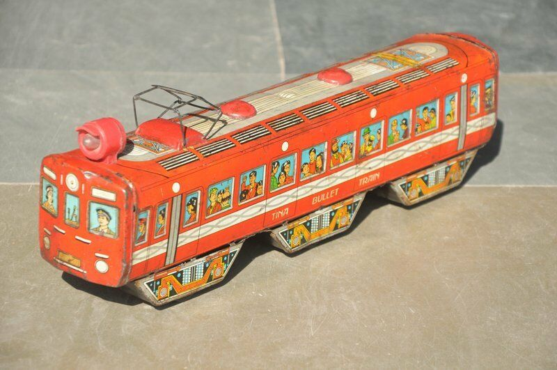 Vintage Friction Litho Litho Litho Tina Bullet Train Tin Toy , Collectible 7b4c36