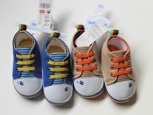 ca8ebd1f59c23 Details about BABY BOY TRAINER TYPE PRAM SHOES WITH PUPPY FACE & PAW PRINT  AND MOCK LACES