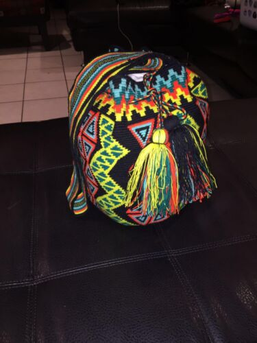 de Auténtico de calidad Wayuu mano bolso alta Mochila zx5qg