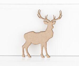 MDF-Wooden-Reindeer-Stag-Craft-Shapes-Embellishments-3mm-MDF-Wood-Design-Project