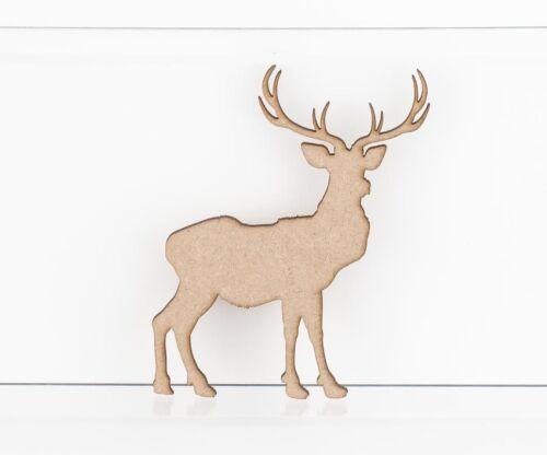 MDF Wooden Reindeer Stag Craft Shapes Embellishments 3mm MDF Wood Design Project