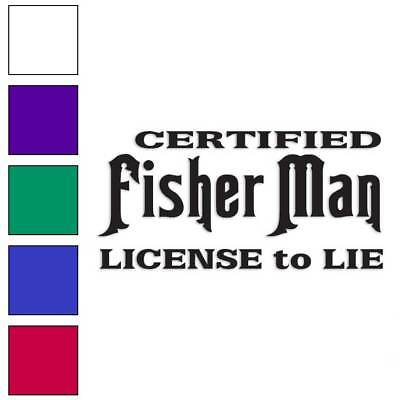 Size #1689 Fisher Of Men Fishing Decal Sticker Choose Color