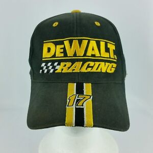 d94178ee4 Dewalt Racing 17 Black Snapback Adustable Baseball Hat or Cap Matt ...