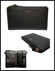 282b8550746d6 Image is loading KATE-SPADE-LARCHMONT-AVENUE-MALEA-WALLET-BLACK-WLRU4981-