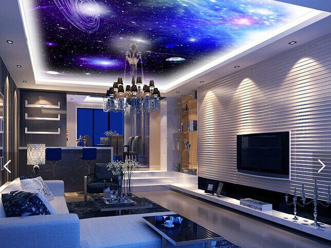 3D Starry Night 8 Ceiling WallPaper Murals Wall Print Decal Deco AJ WALLPAPER GB