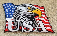 USA BALD EAGLE FLAG PATCH Cloth Badge/Emblem/Insignia Biker Jacket Bag Iron Sew