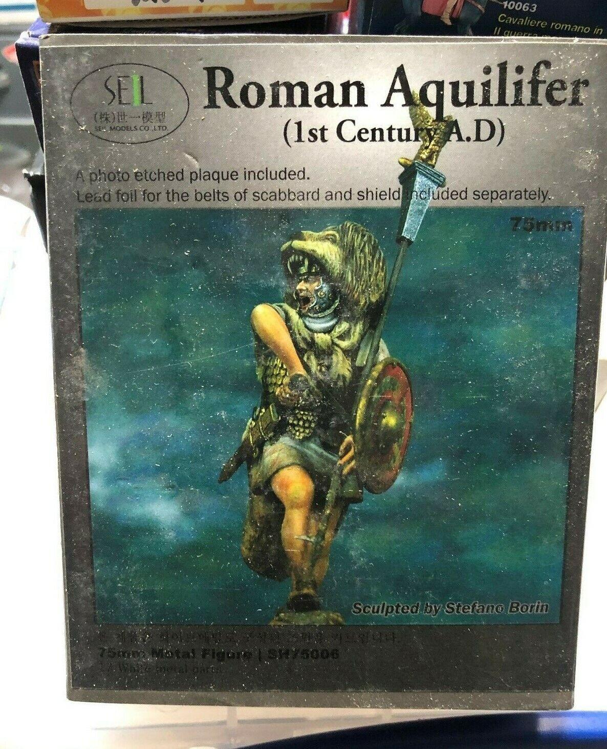 75MM ROMAN AQUILIFER SEIL MODELS  SUPER WHITE METAL KIT
