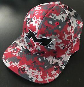 b9f8f2ecbf3 Image is loading Miken-Embroidered-Softball-Hat-RED-DIGI-BLACK-Logo-