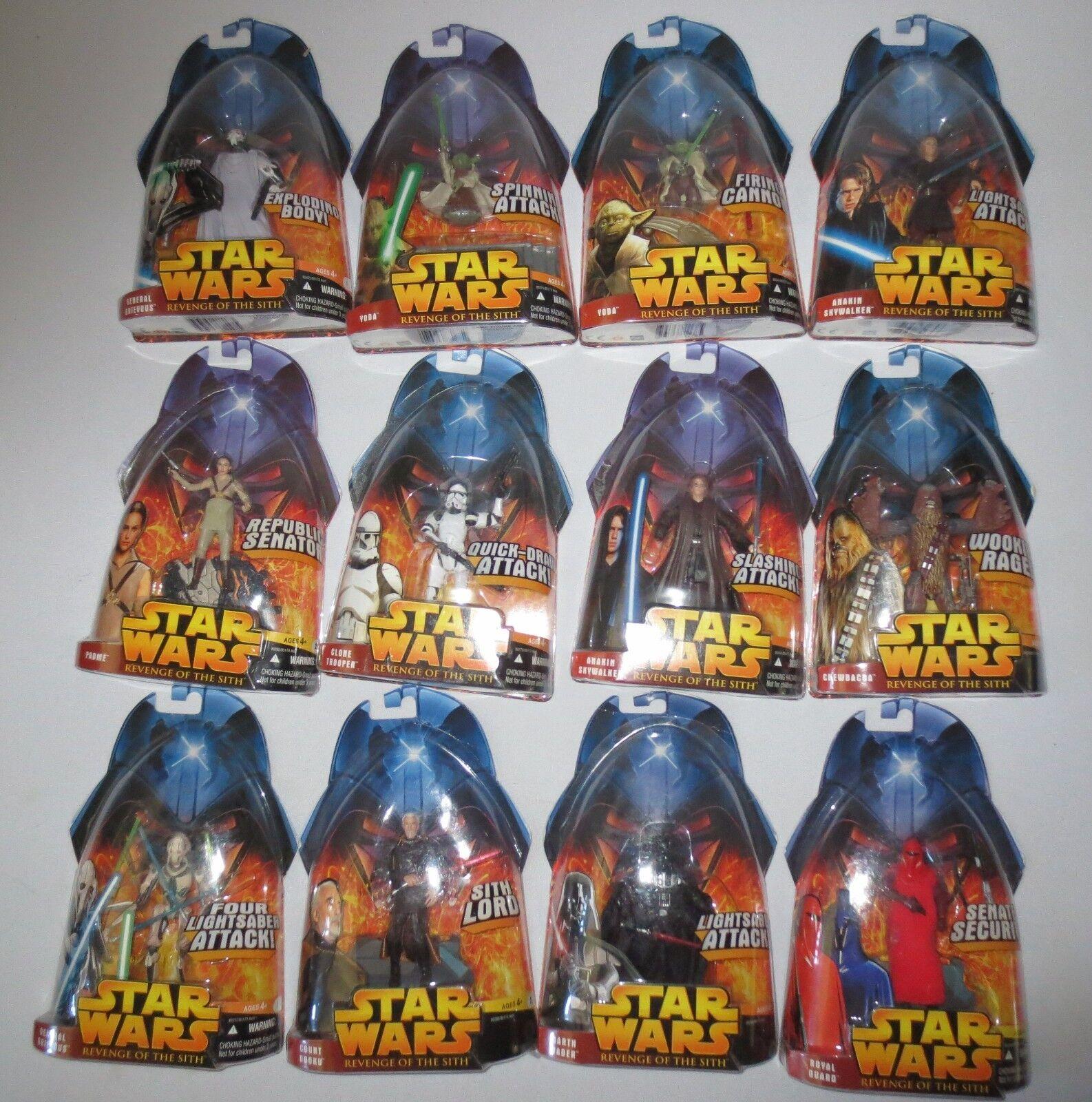 Star Wars Revenge of the Sith redS Hasbro (Set of 12)  NIB