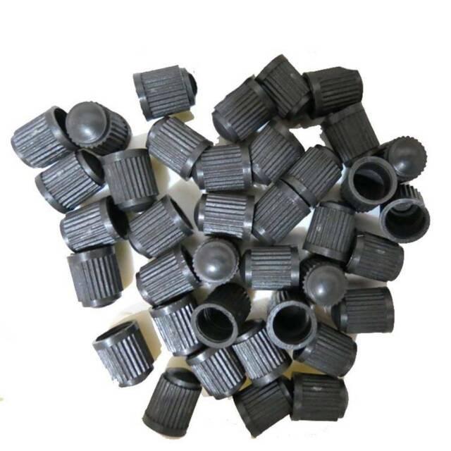 50pcs black plastic dust valve caps bike car wheel tyre air valve stem caps RLD