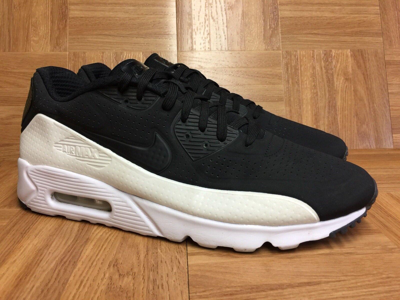 RARE Nike Air Max 90 Ultra Moire Black White Premium shoes Sz 13 819477-011