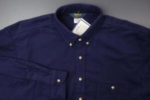 OSHKOSH-Chamois-Sportsman-Shirt-Soft-Cotton-Men-039-s-2XLT-Navy-WORK-OUTDOORS