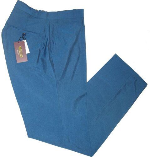 Relco Mens Sta Press Blue Black Tonic 2 Tone Trousers Mod Ska Retro Skin NEW!
