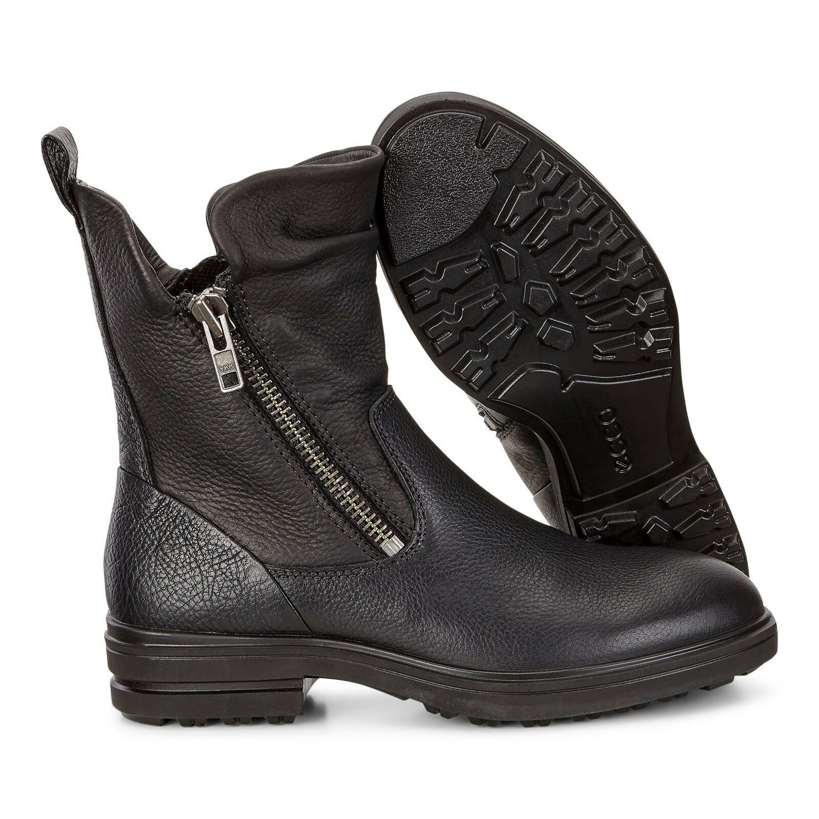 Ecco Women's Euro Size 41 Zoe Mid Zip Boots Black Leather US Size 10/10.5 New