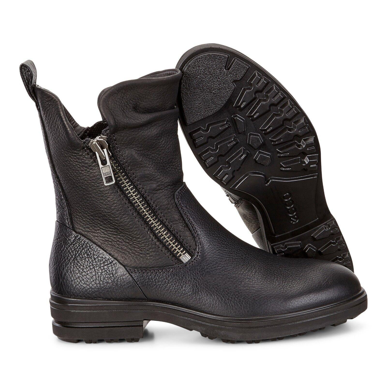 Ecco para mujer Euro Tamaño 41 botas de cuero negro negro negro con cremallera medio Zoe nosotros tamaño 10 10.5 Nuevo  barato