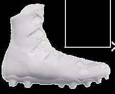 UNDER ARMOUR HIGHLIGHT MC FOOTBALL CLEATS WHITE SILVER NEW 1297358-100 MSRP$130