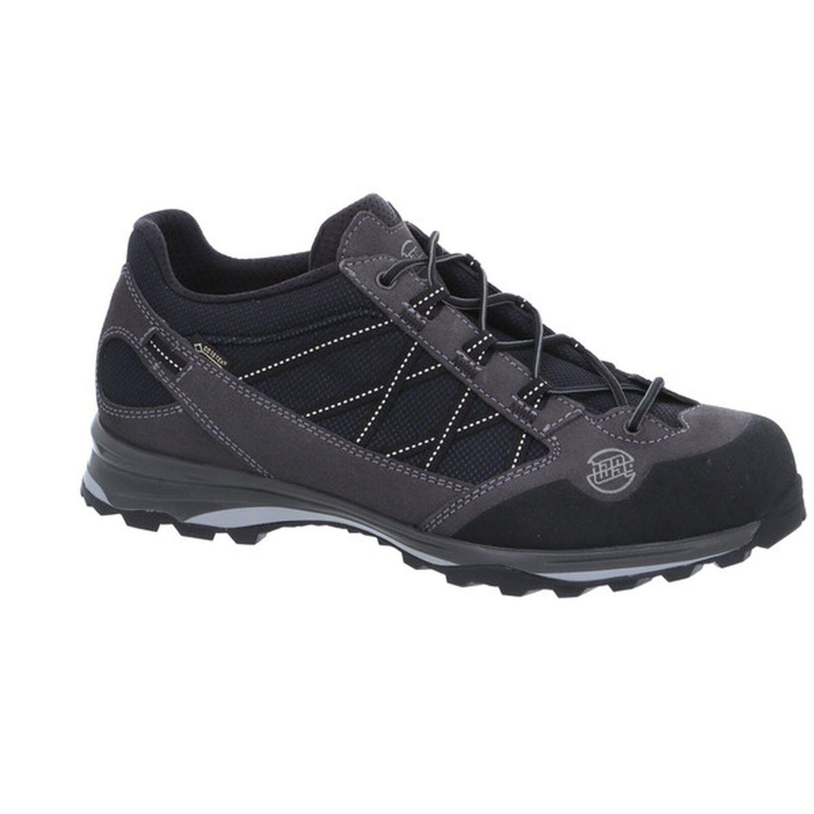 Hanwag montaña zapatos Belorado II low GTX talla 10  - 44,5 asfalto negro  alto descuento
