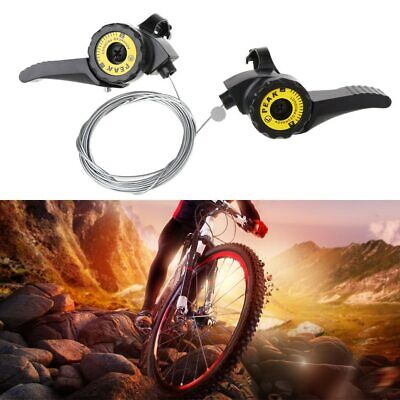 Newest 2X Bicycle Shifter Speed Universal Lever Mountain Bike W// Cable Trigger