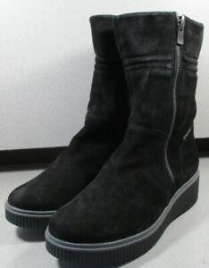 Zip Details Lmsptbt90 4 Black Ermina Mephisto Boots Shoes Women's 5Suede Meur About Size 7 SpqMVUz