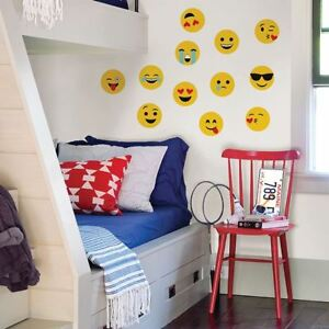 Details About Emoji Wall Art Decals Cool Kiss Love Crying Goofy Room Decor Stickers Decoration