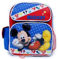 "Disney Mickey Mouse School Backpack 12"" Medium Boys Book Bag -Mickey Stars"