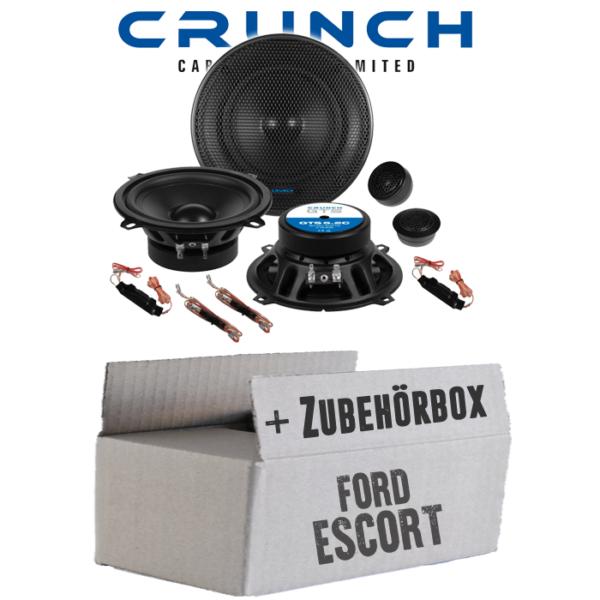 Crunch Lautsprecher Für Ford Escort Front 13cm 2-wege System Auto Einbauset Pkw Keuze Materialen