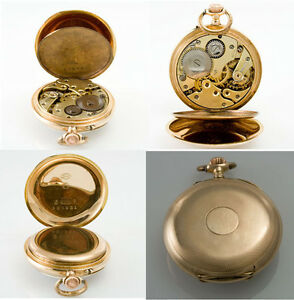 goldene-Uhr-585er-Gold-Taschenuhr-D-C-um-1900-Duerrstein-amp-Co-Handaufzug