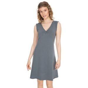Trespass-Opalite-Womens-Ladies-Sleeveless-Summer-V-Neck-Grey-Dress