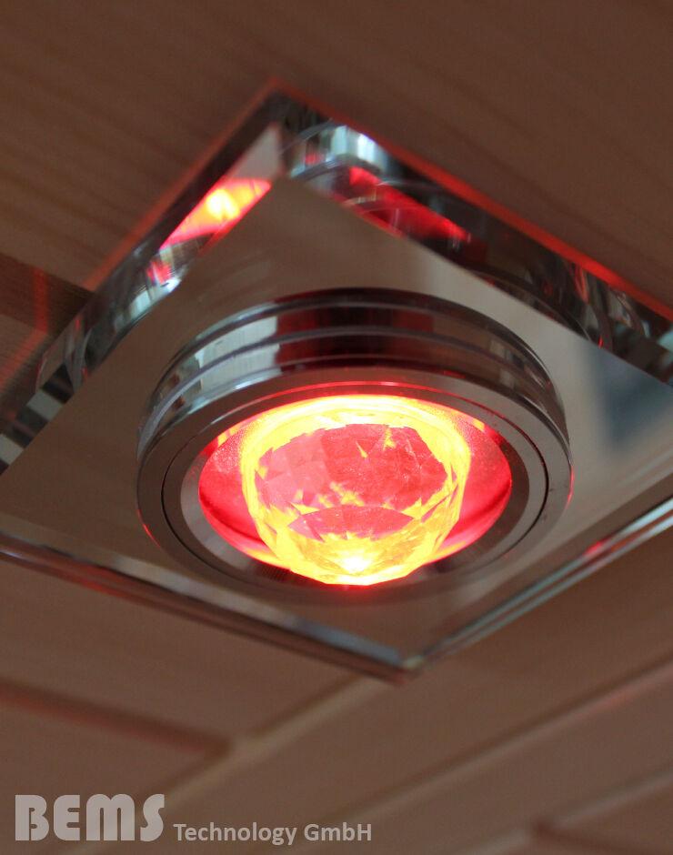 LED Farblicht Beleuchtung Spot RGB für Sauna Infrarotkabinen Wohnberei
