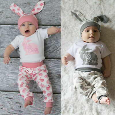 UK Newborn Baby Boy Girl Animal Romper Bodysuit Jumpsuit Easter Clothes Outfits