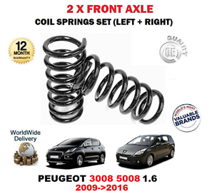 For Peugeot 3008 5008 1.6 2009-2016 NEW 2x Front Coil  Springs Kit  big savings