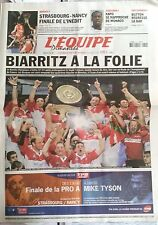 L'Equipe Journal 12/6/2005; Biarritz Champion de France/ Kapo/ Button-La Bar