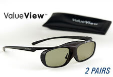 SAMSUNG-Compatible ValueView® 3D Glasses. Rechargeable. TWO PAIRS