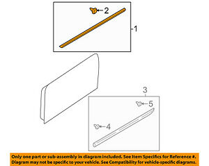 SUBARU OEM 05-09 Legacy Exterior-Rear-Upper Molding Trim Right 91012AG02ANN