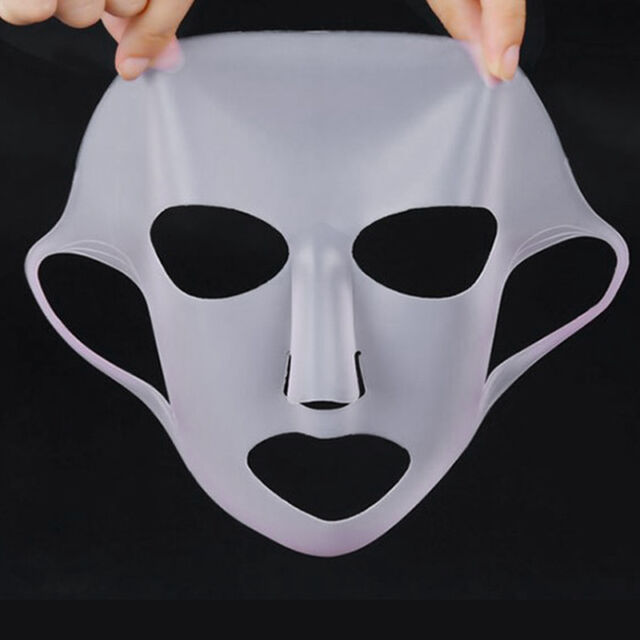 Silicone Gel Unisex Japan Reusable  Masks Moisturizing White Face Mask Cover New