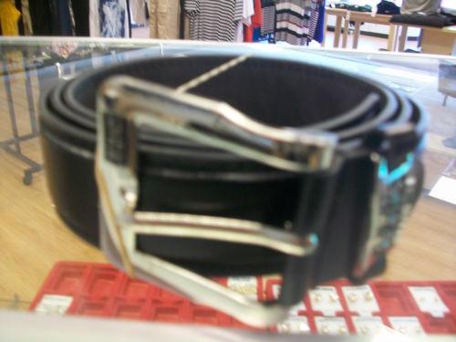 Men/'s All Black Solid Belt Size 50-52 Brand New!