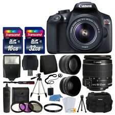 Canon EOS Rebel T6 Digital SLR Camera with Lens Kit, 48GB Memory Card, Filter Kit & Tripod Bundle