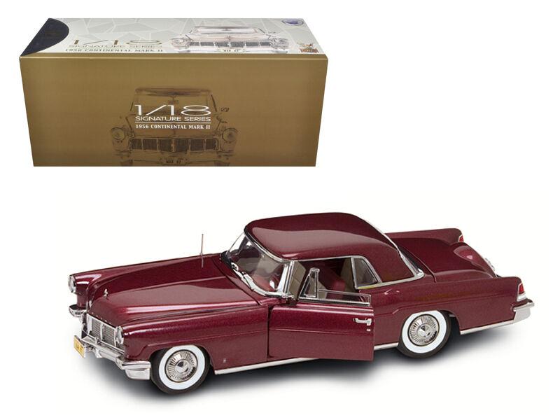 1956 lincoln continental mark ii burgund 1,18 ein diecast modell auto - 20078bur