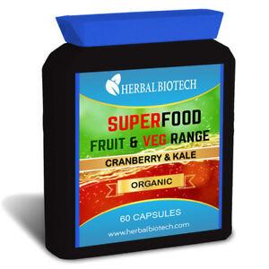 Superfood-Biologico-Mirtillo-e-Cavolo-Capsule-non-in-polvere-o-Tablet-frutta-e-verdure