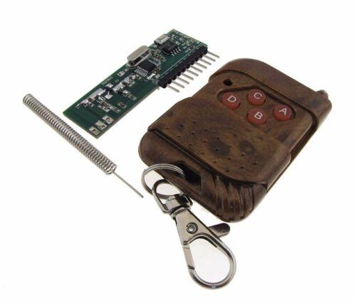 4 Channel 315 MHz Télécommande /& Récepteur Module Décodeur avec DEL 5 V Latching