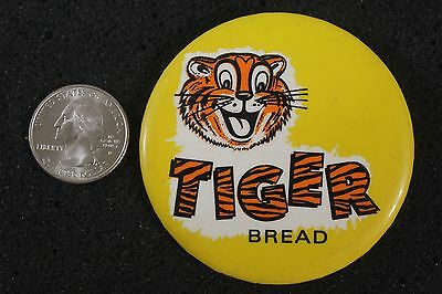 Vintage Tiger Bread Bakery Advertising Hat Lapel Pinback Button #5280