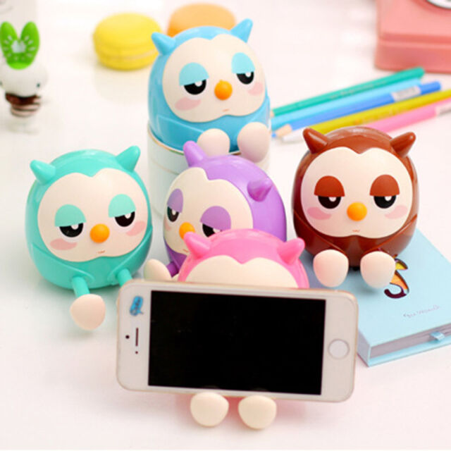 Cartoon Cute OWL Design Cell Phone Stand Holder Mini Saving Money Container