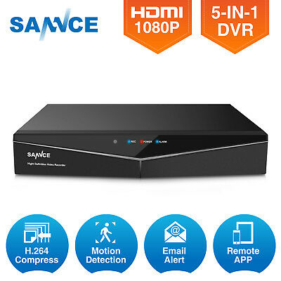 Details about SANNCE 8CH HD 1080N 5in1 HDMI P2P DVR for CCTV Security  Camera System APP Alarm